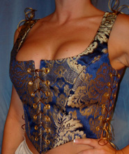 blue gold bodice