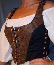 brown black bodice